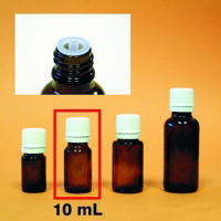 Amber Mini-Bottle - 10 mL (1/3 oz.)
