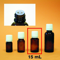 Amber Mini-Bottle - 15 mL (1/2 oz.)