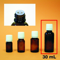 Amber Mini-Bottle - 30 mL (1 oz.)
